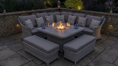 Photo of Enjoy comfort and warmth in winter with fire pit table