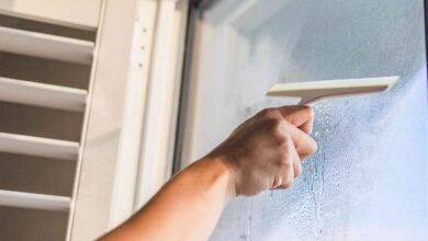 cleaning sliding glass
